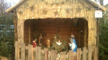 Szopka Bożonarodzeniowa na Placu Jana Pawła II (foto1)